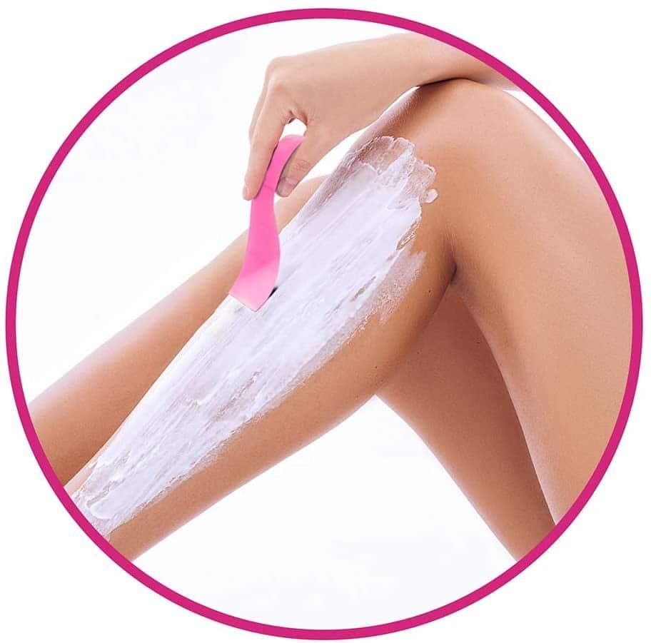 crema depilatoria en piernas